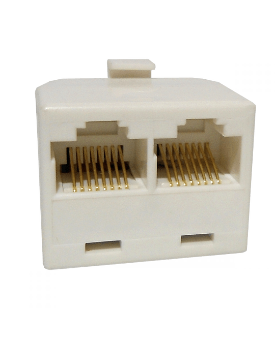 Generico Union Y 2-RJ45-Hembra 1-RJ45-Macho CAT3 Blanco