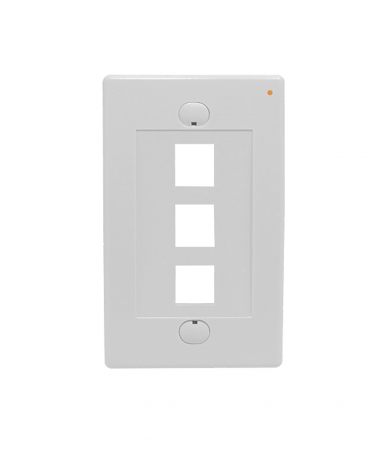 Linkmade Blanco 3-Keystone Vertical Faceplate 70x114mm