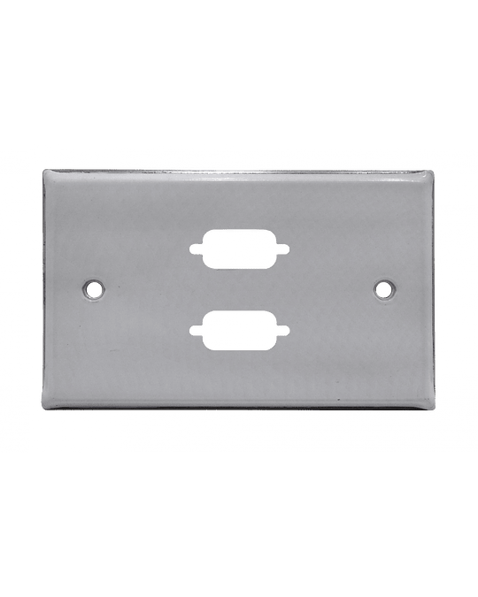 Linkmade 2-VGA FACEPLATE METALICO REQUIERE-2X/VGA-HH 70x114mm