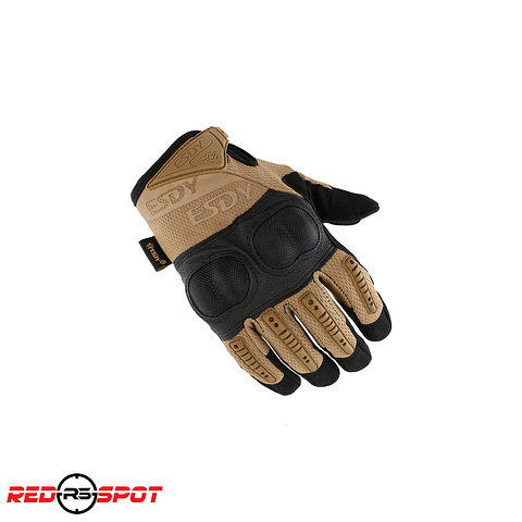 GUANTES HARDKNUCKLE  ESDY NEGRO/TAN Talla L
