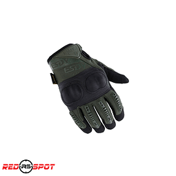 GUANTES HARDKNUCKLE  ESDY NEGRO/VERDE TALLA M