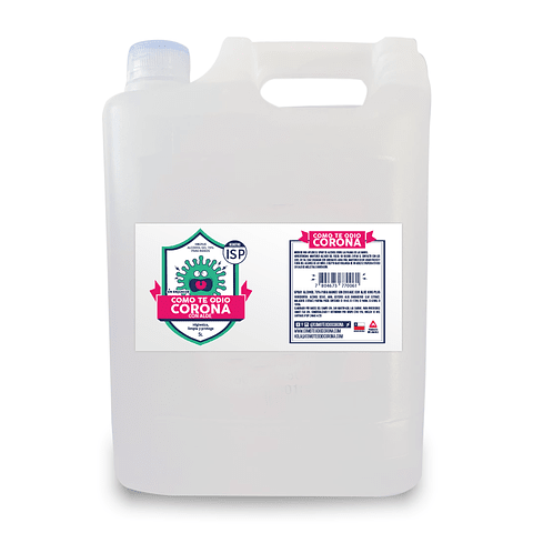 RECARGA ALCOHOL SPRAY MALAQUITA Y ALOE 5L