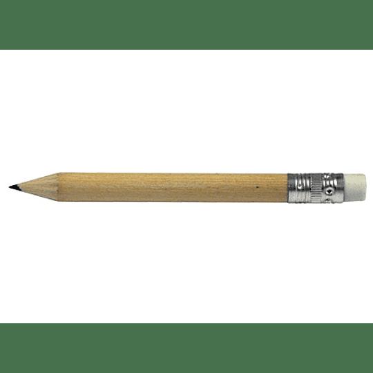 Lápiz Grafito Corto 100 unidades con logo full color