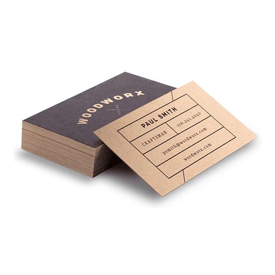 100 Tarjetas de presentación en KRAFT