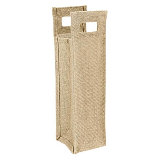 Bolsa de Yute Porta-Botella 10 x 40 x 10 cm aprox.