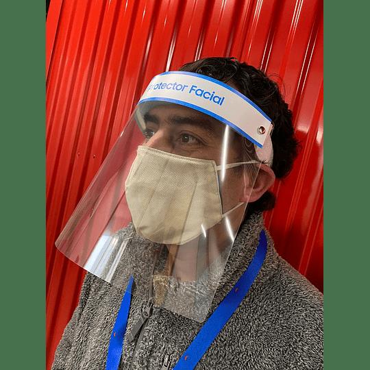 Protector Facial opción de colocar tu logo