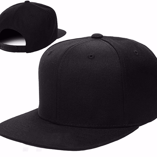 jockey tipo Snapback color negro con estampado