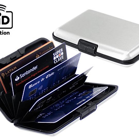 Porta-Tarjetas Anti-Clonación RFID