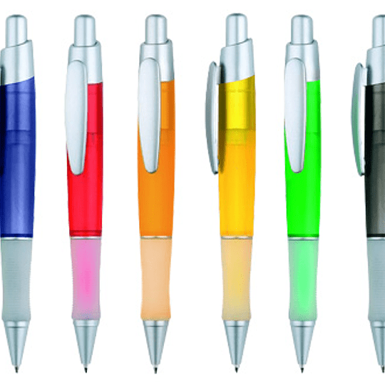 Bolígrafo Plástico Discovery 100 unidades con logo full color