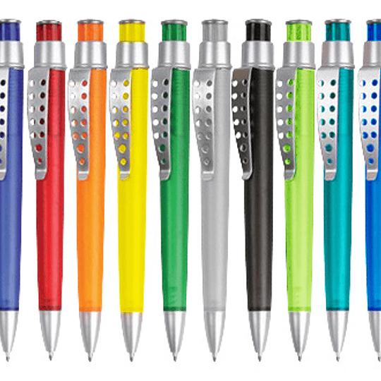 Bolígrafo Plástico Evolution 100 unidades con logo full color