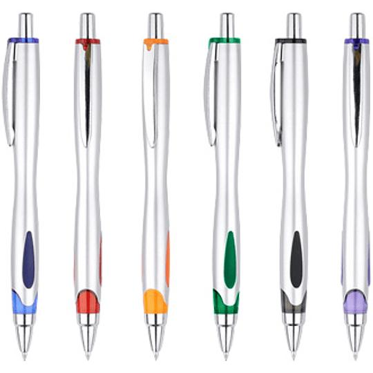 Bolígrafo Plástico Kinetic 100 unidades con logo