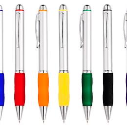 Bolígrafo Plástico Qasar Silver 100 unidades con logo