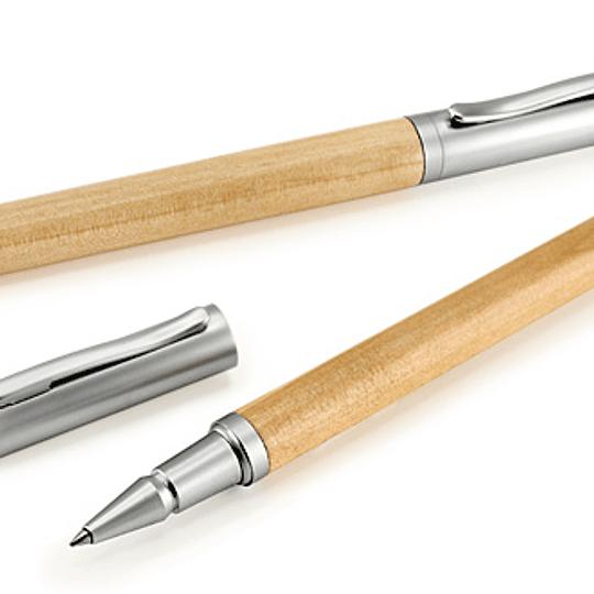 Roller Pen Bamboo y Metal 50 unidades Grabado o impreso
