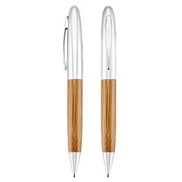 Deluxe Bolígrafo Bamboo/Metal 100 unidades Grabado o impreso