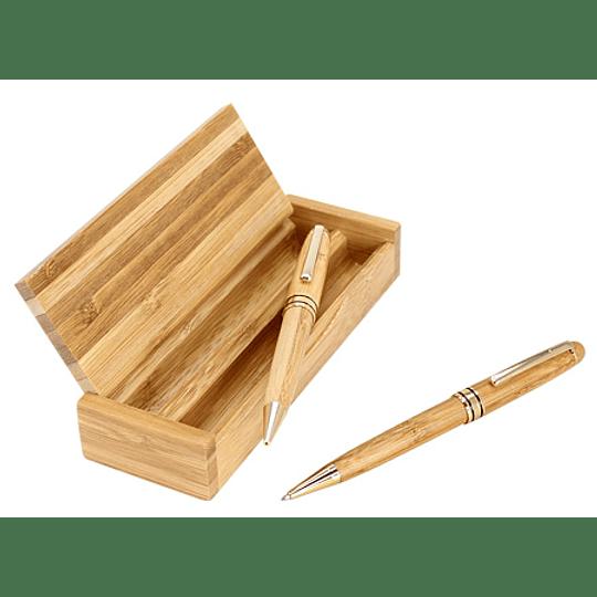 Set de Escritura de Bamboo 100 unidades grabdo o impreso