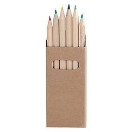 Set 6 Lápices de Colores 100 unidades logo full color en caja