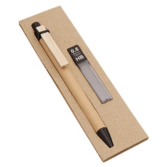 Set Portaminas Ecológico 100 unidades impresos con logo full color en caja