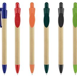 Bolígrafo Ecológico Leave 100 unidades con logo full color