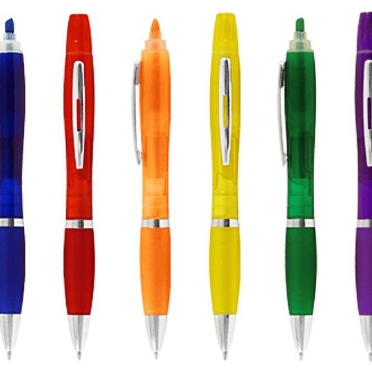 Bolígrafo con Destacador Wind Color