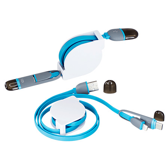Connect Multicargador Retráctil