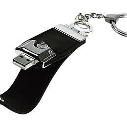 Llavero-Pendrive 4GB Simil Cuero CON LOGO