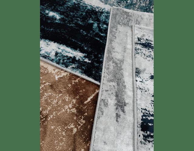 Tapete Victoria - Cinza e Azul
