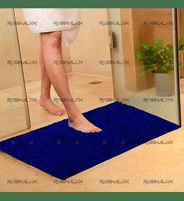 Tapete Micro Chenille - Azul