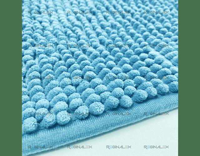 Tapete Micro Chenille - Azul Turquesa