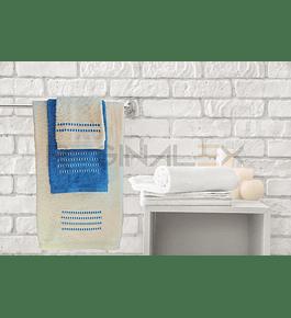 Jogo de Banho Matizado (Azul | Bege)