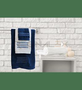 Jogo de Banho Matizado (Azul | Branco)