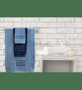 Jogo de Banho Matizado (Azul | Azul Marinho)