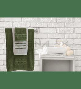 Jogo de Banho Matizado (Verde | Branco)