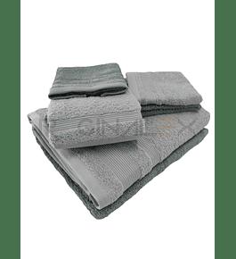 Jogo de Banho 108 - Cinza e Verde