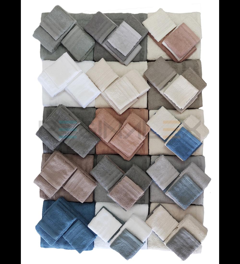 Jogo de Banho 108 - Cinza e Branco