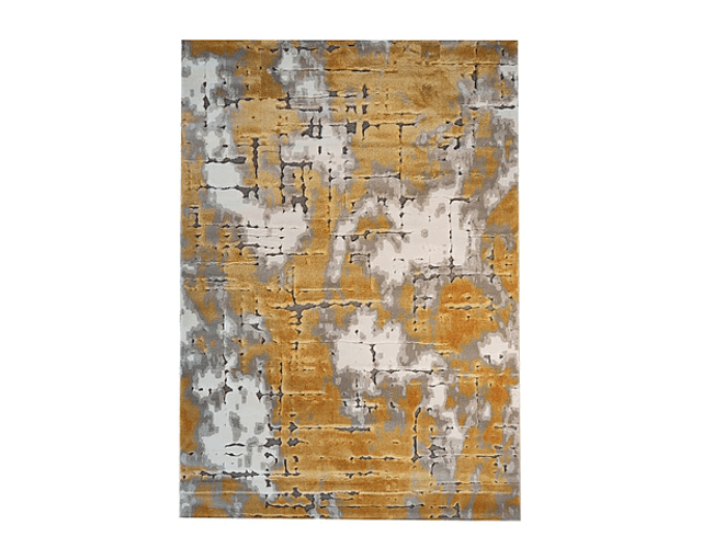 Tapete Feshane - Amarelo e Cinza