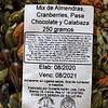 Almendras, pasa chocolate, cranberry, pepita 250 grs