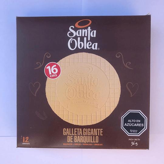 Galleta gigante barquillo Santa Oblea