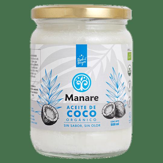 Aceite de coco org sin olor ni sabor 500ml Manare