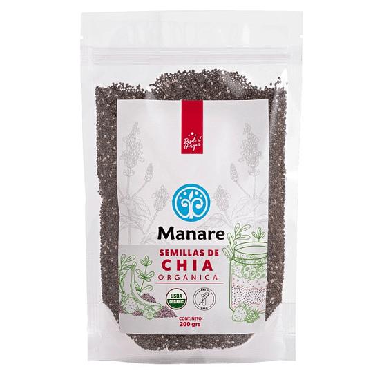 Semillas Chia Orgánica 200 grs Manare