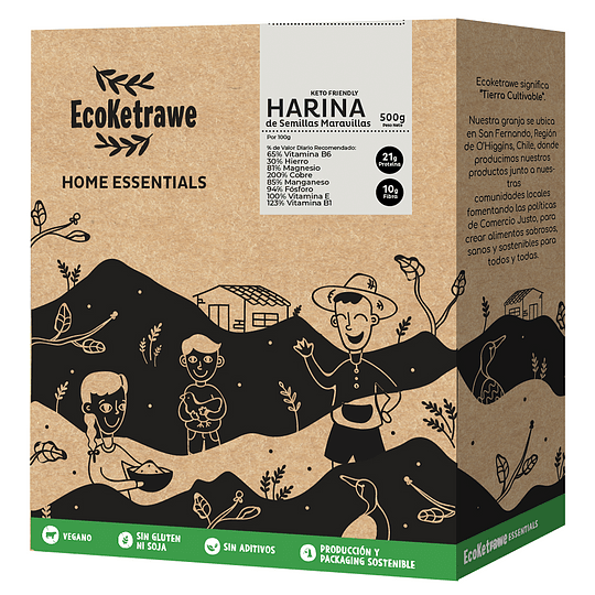 Harina de Semillas de Maravilla (Keto Friendly) 500gr