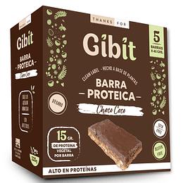 Vegan Protein Bar Gibit Choco Coco - 5 unidades Gibit