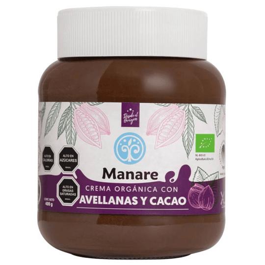 Crema Avellanas y Cacao org. 400g Manare