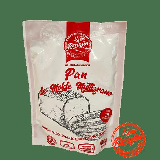 Pre-mezcla Pan Molde Multigrano Rengun 400 grs