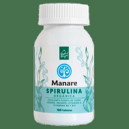 Spirulina organica 180 tabletas Manare