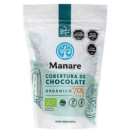 Cobertura 70% cacao 400g Manare