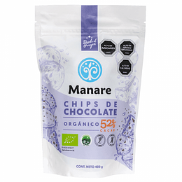Chips 52% cacao 400g Manare
