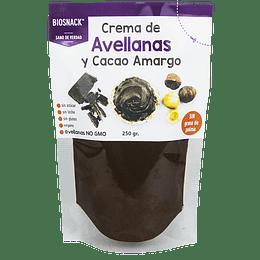 Crema de cacao avellana semi amargo 250g