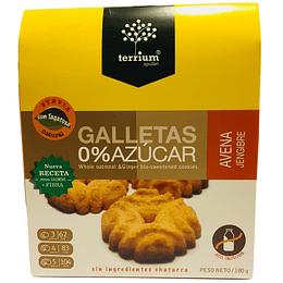 Galletas 0% azucar avena jengibre 180g