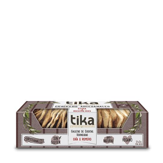Tika crackers chia y romero 140g
