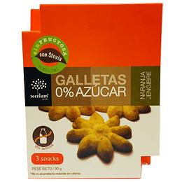 Galletas naranja jengibre sin azucar 90g